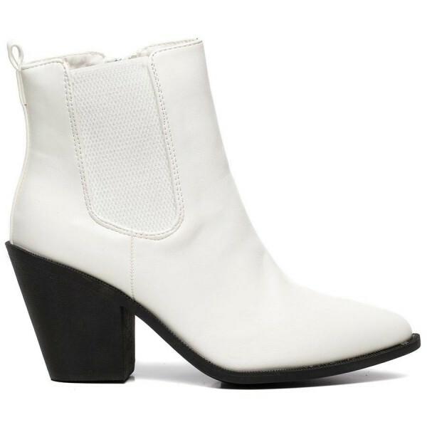 CHELSEA BOOTS HEEL WHITE