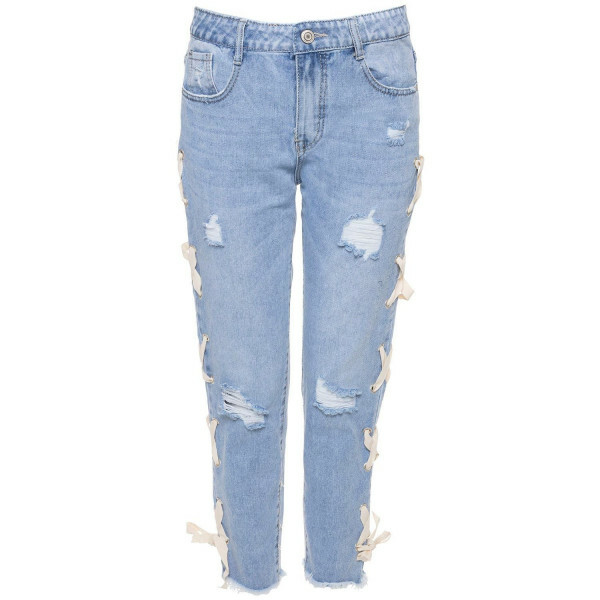 LACE UP BOYFRIEND JEANS