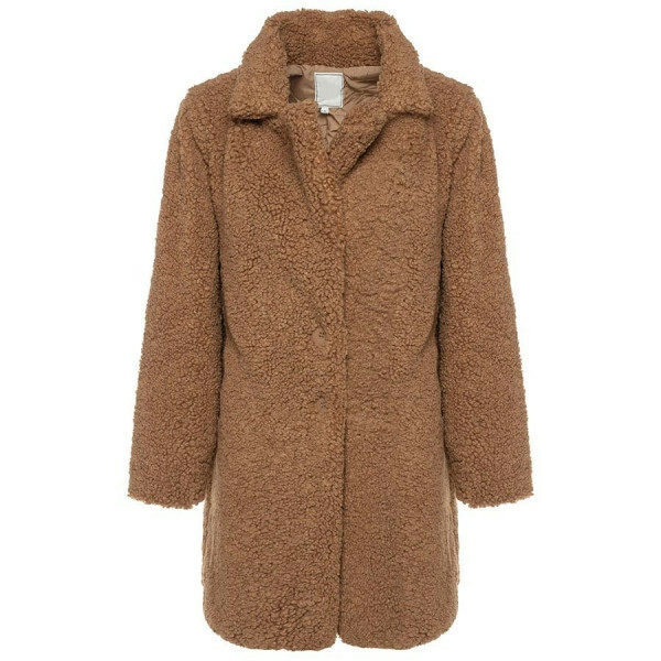 LONG TEDDY COAT CAMEL