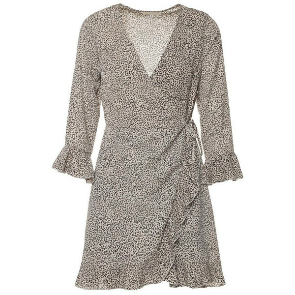LEO WRAP PLAYSUIT BEIGE