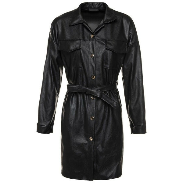 LEATHERLOOK SHIRTDRESS