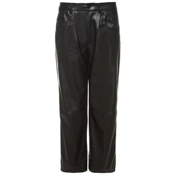 WIDE LEG LEATHER PANTS