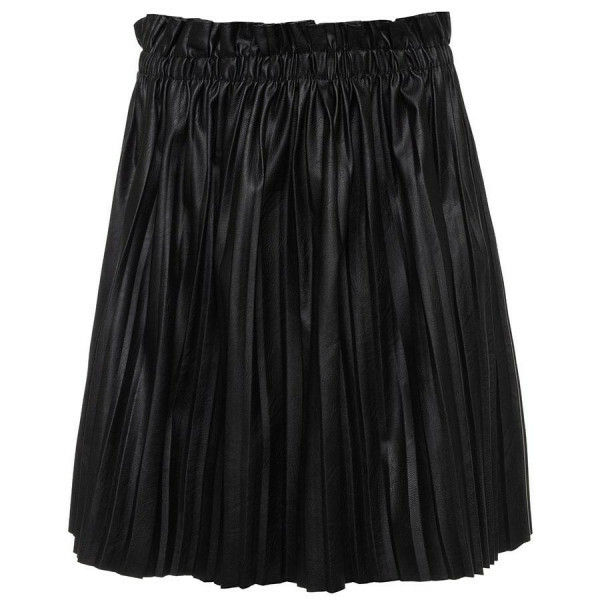 PLEATED LEATHERLOOK SKIRT