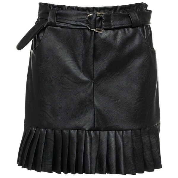 CUTE LEATHER SKIRT BLACK