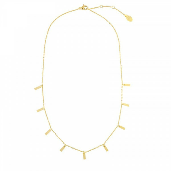 SET THE BAR NECKLACE GOLD