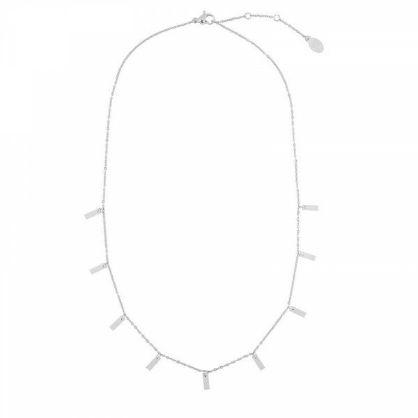 SET THE BAR NECKLACE SILVER