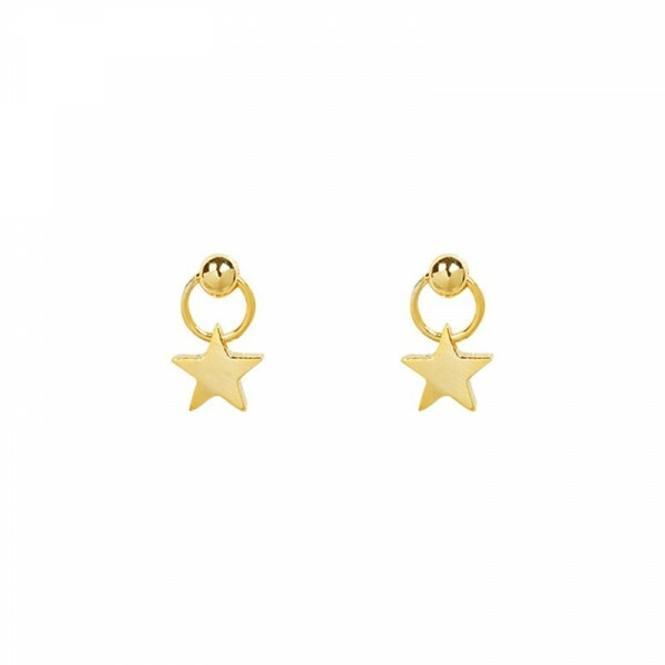 SWEET GOLD STAR EARRINGS