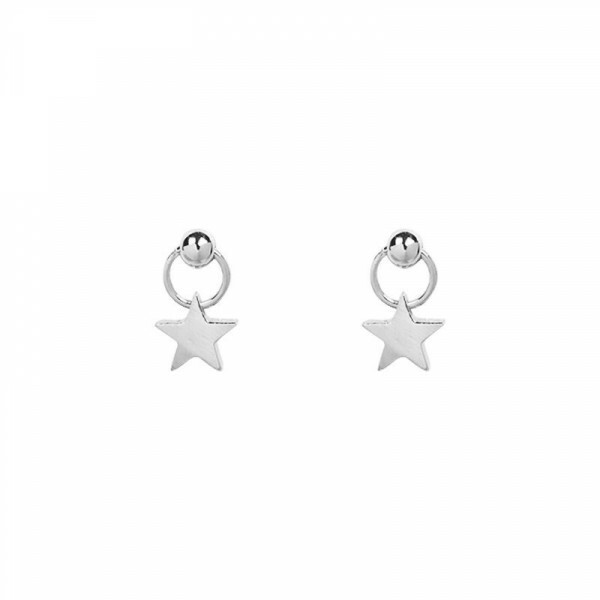 SWEET SILVER STAR EARRINGS