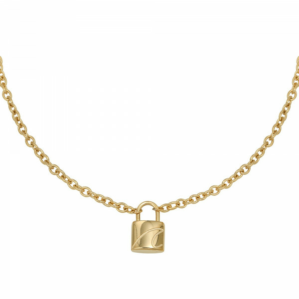 LOCK ME UP NECKLACE GOLD