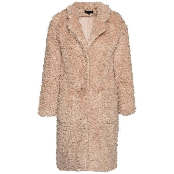 LONG BEIGE TEDDYCOAT