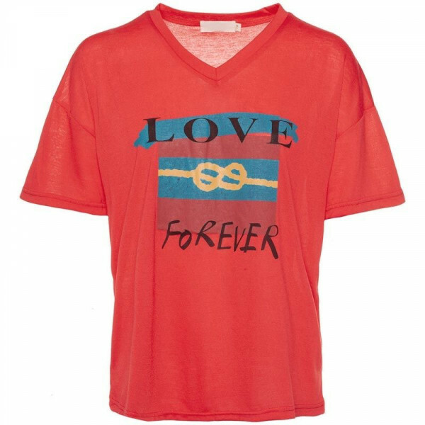 RED INFINITE LOVE TEE