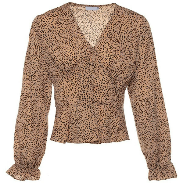 LEOPARD TOP BROWN