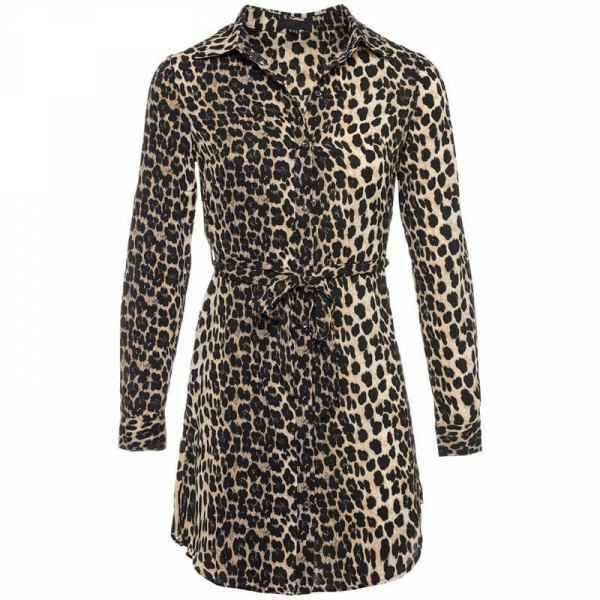 LEOPARD SHIRTDRESS