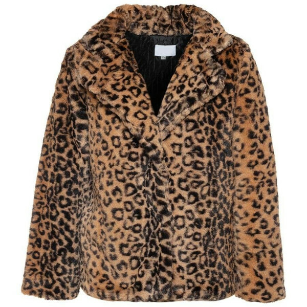 LEOPARD FAKE FUR COAT