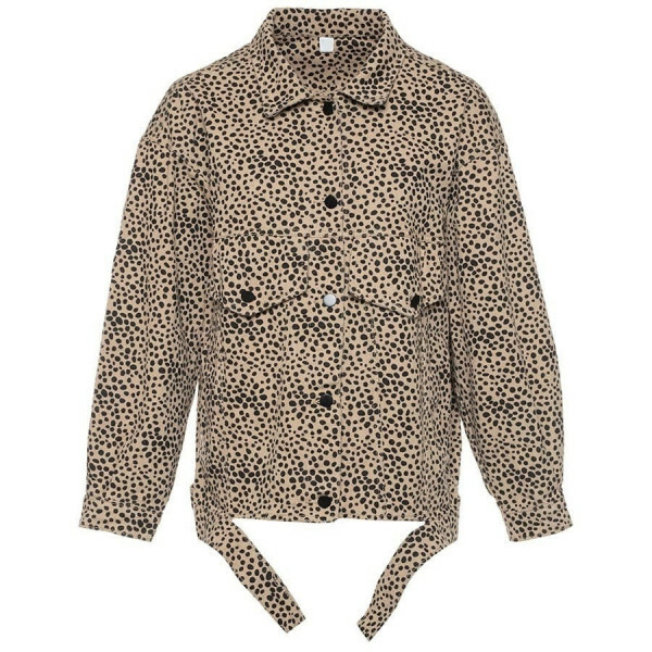 DENIM CHEETAH JACKET