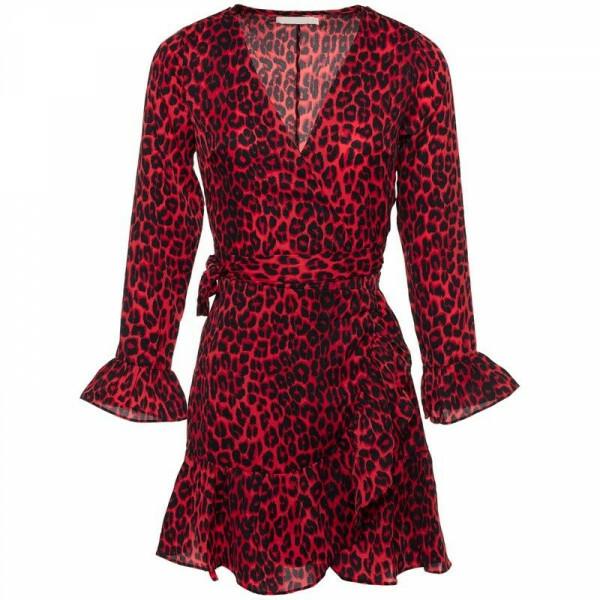 LOVELY LEOPARD DRESS RED