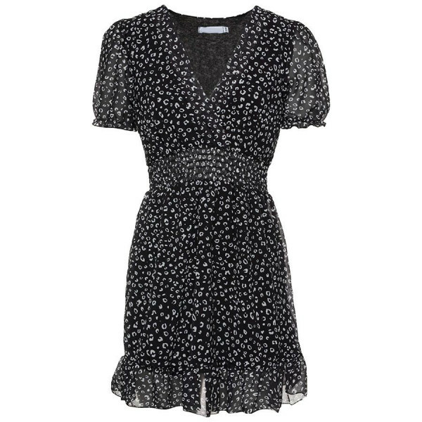 CUTEST LEOPARD DRESS BLACK