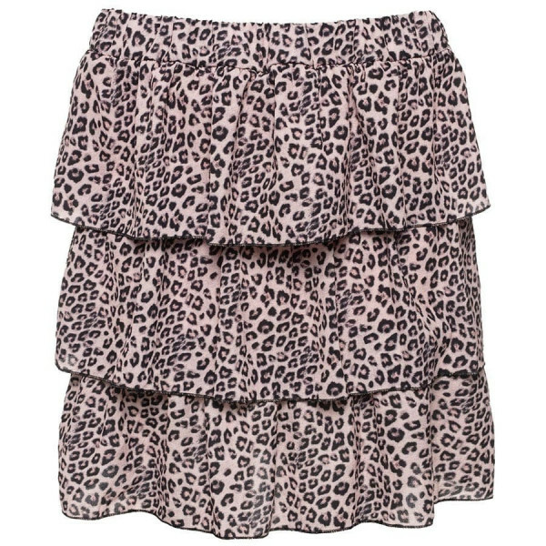 LAYERED LEOPARD SKIRT PINK