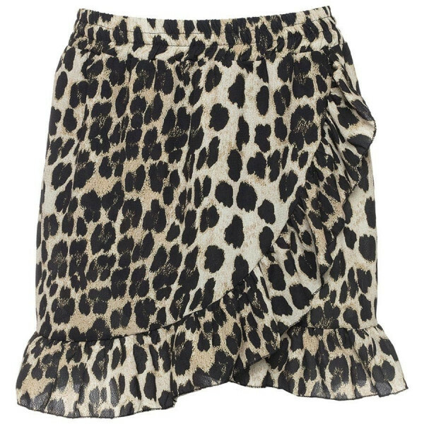CUTE LEOPARD RUFFLE SKIRT 2