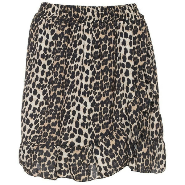 CUTE LEOPARD RUFFLE SKIRT