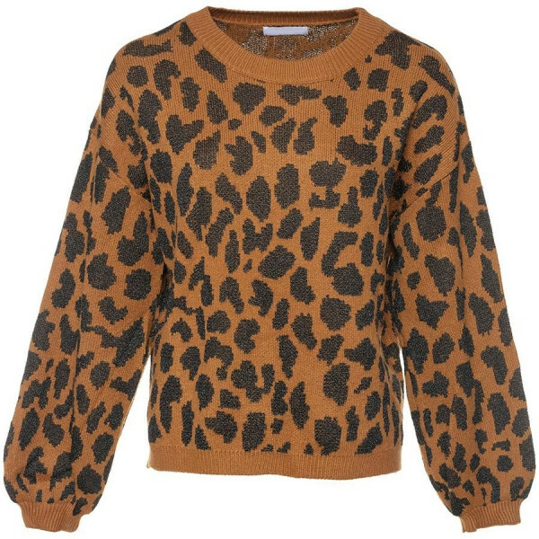 SOFT LEOPARD SWEATER BROWN