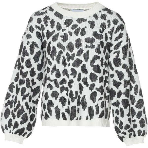 SOFT LEOPARD SWEATER WHITE