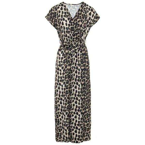 MAXI SPLIT LEOPARD DRESS