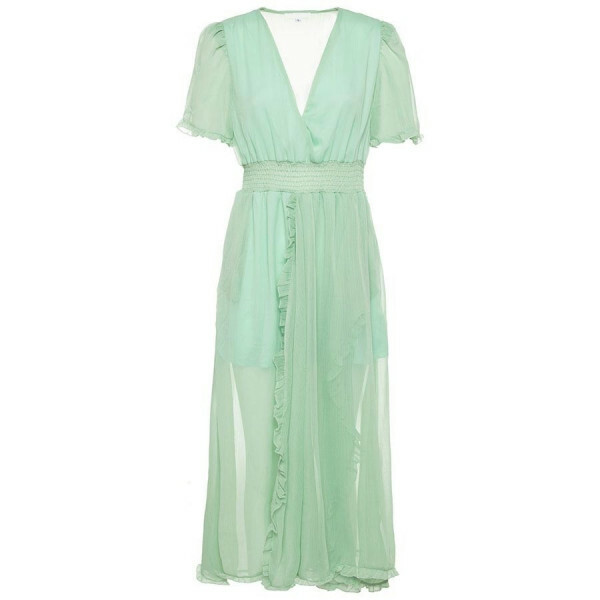 FLOWY MAXI DRESS GREEN