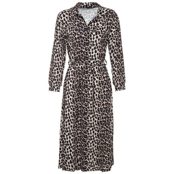 MAXI SHIRTDRESS LEOPARD