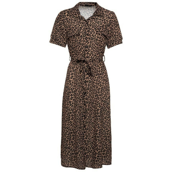 SUMMERY LEO DRESS BROWN