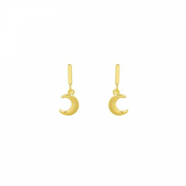 MINI MOON EARRINGS GOLD