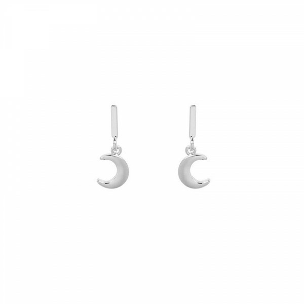 MINI MOON EARRINGS SILVER