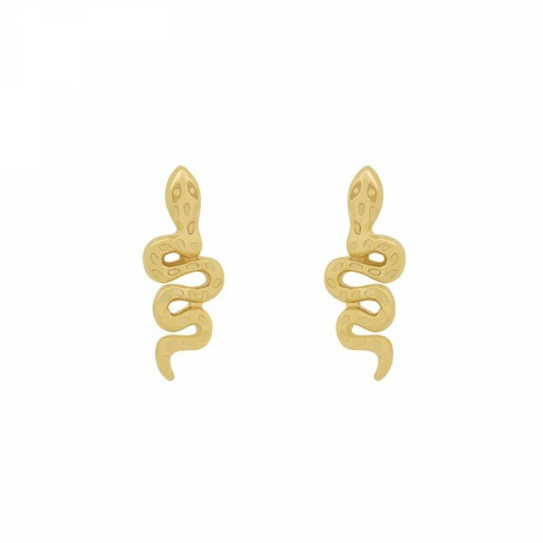 MINI SNAKE EARRINGS GOLD