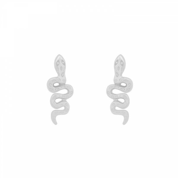 MINI SNAKE EARRINGS SILVER