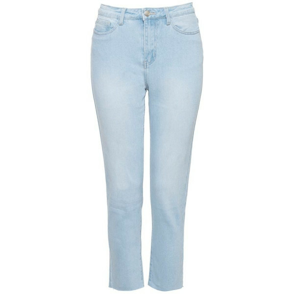 HIGH WAIST MOM JEANS BLUE