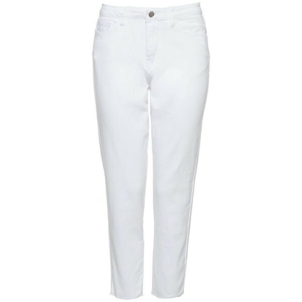 HIGH WAIST MOM JEANS WHITE