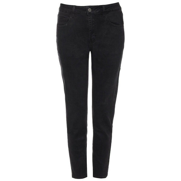BASIC MOM JEANS BLACK