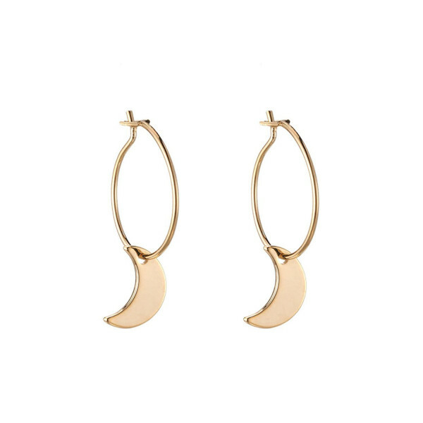 GOLD HALFMOON EARRINGS