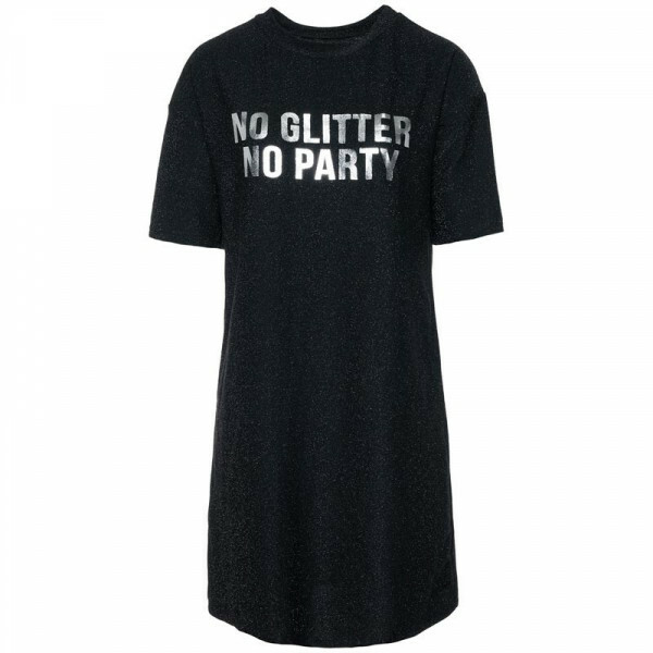NO GLITTER NO PARTY DRESS BLACK