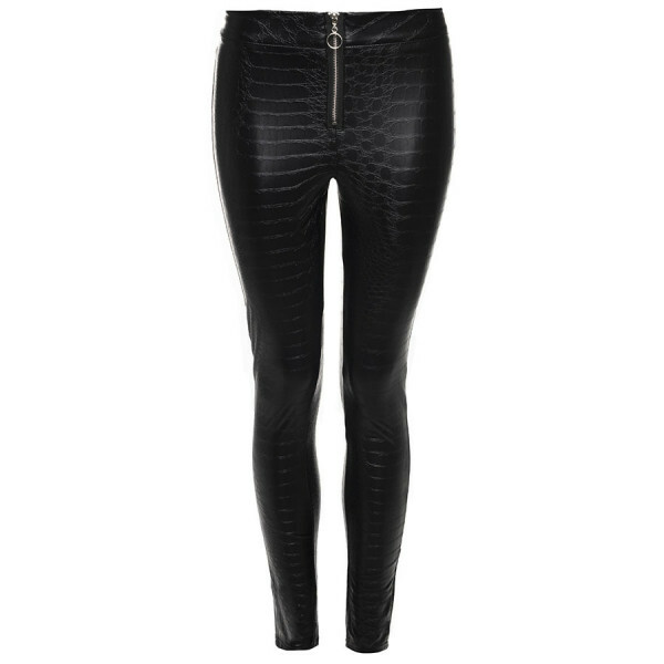LEATHERLOOK BROEK SLANGENPRINT