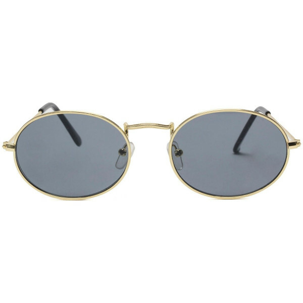 GOLD RETRO OVAL SUNNIES