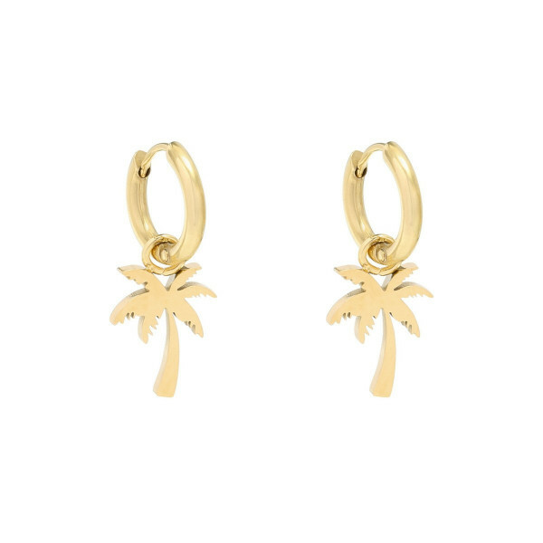 PALMTREE EARRINGS GOLD