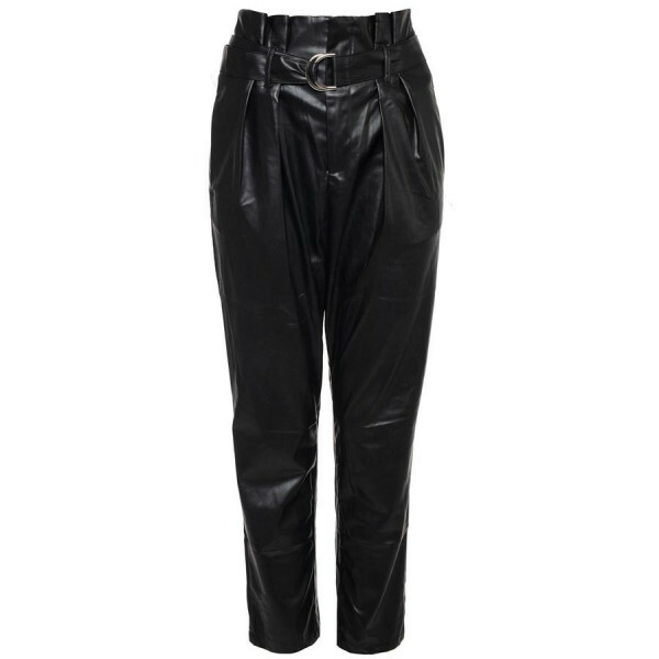 LEATHERLOOK PAPERBAG PANTS