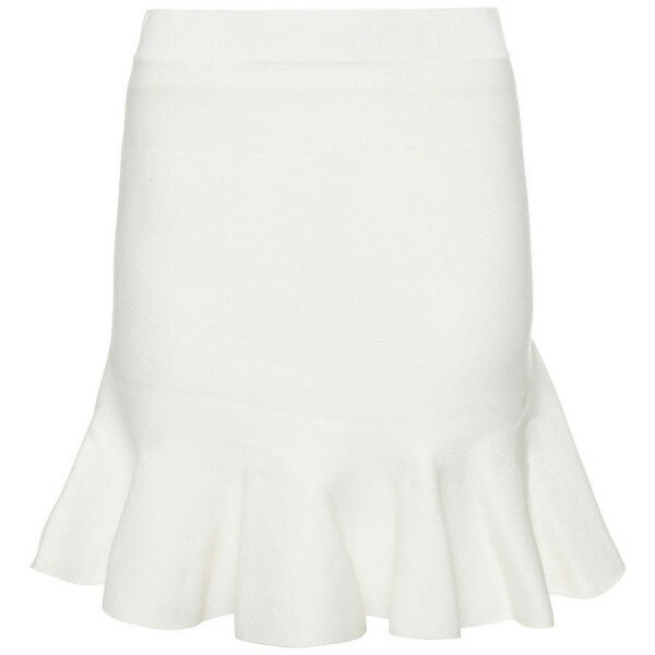 PEPLUM SKIRT WHITE