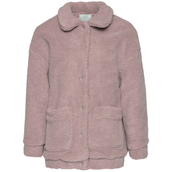 PINK TEDDY BOMBER JACKET