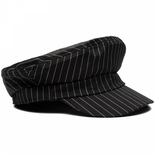 STRIPED BAKER BOY CAP