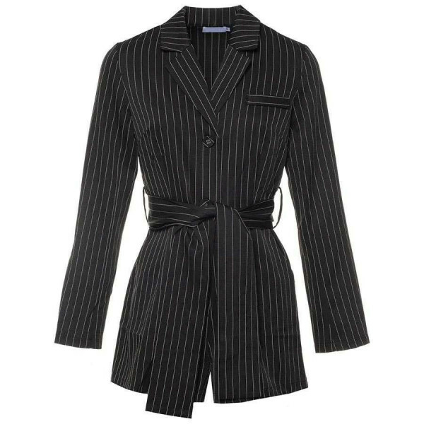 STRIPED BLAZER PLAYSUIT