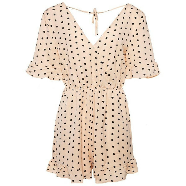 PLAYSUIT POLKADOTS PEACH