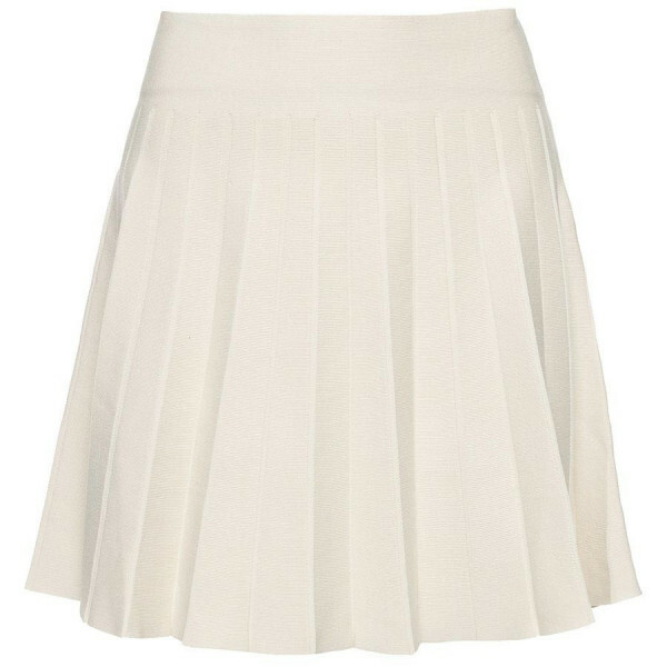 PLEATED SKIRT BEIGE