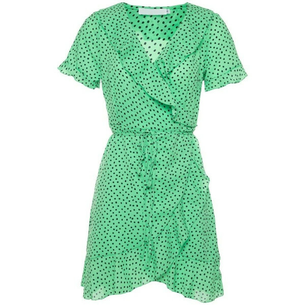 CUTEST POLKADOT DRESS GREEN